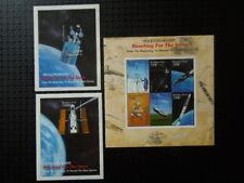 G392  STAMPS   BURKINA  FASO 19992000  SPACE    3 X  S/S SHEET  MNH