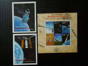 G392  STAMPS   BURKINA  FASO 19992000  SPACE    3 X  S/S SHEET  MNH