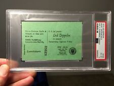1973 Led Zeppelin Concert Ticket Nuremberg Germany Beautiful PSA 4