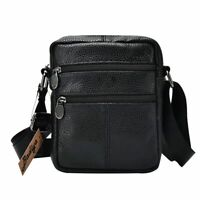 NEW Men Genuine Leather Shoulder Bag Messenger Crossbody Tablet Handbag Business