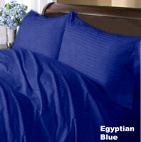 Branded Duvet Collection 1000 Thread Count Egyptian Blue Stripe Select Item&Size