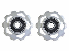 New MTB Road Bike Derailleur Jockey Wheel Slot Pulley 10T Silver