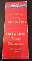 Matchbook Cover Catalina Family Restaurant Catalina Motel Lexington KY