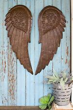 Angel Wings Hand Hammered Metal Wall Sculpture Decor,10'' x 26''H.