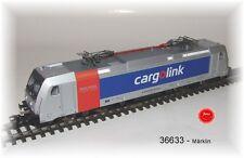"""Märklin 36633 E-Lok BR 185.6 """"Cargolink"""" A/S mfx Sound Metall #NEU in OVP#"""