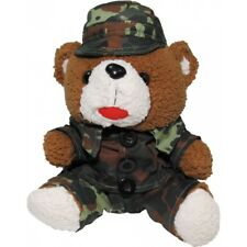 MFH Outdoor Military teddybar avec costume 28 cm Kuschelbär MILITAIRE SOLDAT CAMO