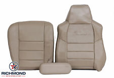 2003 Ford Excursion 7.3L Diesel 4X4-Driver Side Complete LEATHER Seat Covers Tan