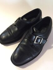 Florsheim Comfortech black leather slip on dress shoes Men's size 7 1/2 D GUC