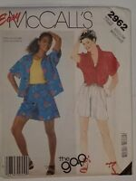 Shirt Shorts Sewing Pattern 2962 M McCalls UC FF Easy The Gap Cotton Chambray +