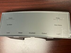 GE Refrigerator Display Cap Touch Silver finish, OEM, WR17X26326, Brand New