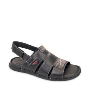 VALLEVERDE 20831 Sandals Men's Shoes Leather Black