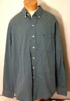 Izod Mens Casual Shirt Button Front Green L/S Size XL Izod Logo