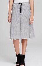 XL Eileen Fisher Organic Linen Jersey Skinny Stripe Skirt