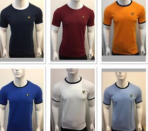 LYLE AND SCOTT SHORT SLEEVE CREW NECK T-SHIRT (contrast collar) FOR MEN