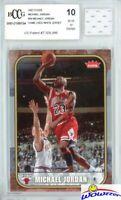 2007 Fleer #26 Michael Jordan+Game Used Jersey BECKETT 10 MINT 1986 Fleer Design