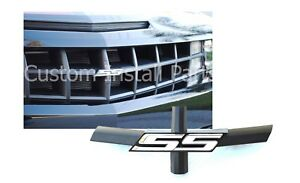 Grille Bowtie Delete White SS Emblem Replacement For 92225495 Fits Chevy Camaro
