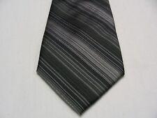 "PIERRE CARDIN - MODERN - SKINNY 2 3/4"" - BLACK & GRAY STRIPED NECK TIE!"