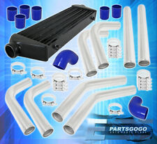 Universal Tube & Fin Jdm Intercooler 65mm Piping Kit Silicone Adapter Clamp