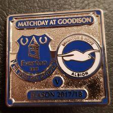 Everton v Brighton & Hove Albion Official Match Day Badge Season 2017/ 18