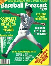 1979 Baseball Forecast magazine, Ron Guidry, New York Yankees Label Part Removed