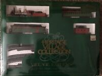 Dept 56 Heritage Village Retired Train Set-NEW Never Opened-Slight Damage Of Box