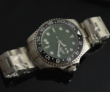 43mm Parnis Green dial  sapphire glass Green GMT Automatic mens Wrist Watch 556