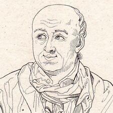 Portrait XIXe Salomon GESSNER Zurich Suisse Poésie Poète 1821
