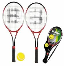 JUNIOR TENNIS RACKETS & BALL 2 PLAYER KIDS OUTDOOR SUMMER RACQUET COURT FUN