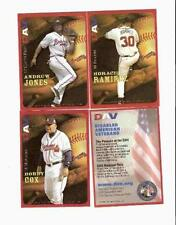 3 Atlanta BravesLtd.Ed. DAV Cards -  Andruw Jones,  Bobby Cox, etc.