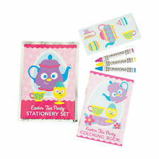 Easter Tea Party Activity Sets - Stationery - 12 Pieces