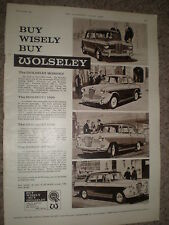 Old car advert Buy wisely buy Wolsey 1962