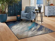 Contemporary Area Rugs 8x10 Blue Gray Living Room Rugs 5x7 Door Mats 2x3 Carpet