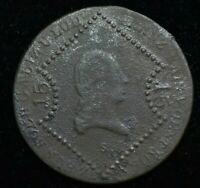 1807 S AUSTRIA FRANZ II 15 KREUZER - LARGE COIN 36mm - GREAT COIN