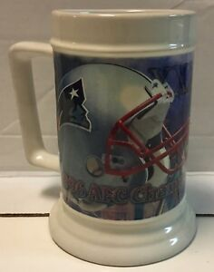 New England Patriots Superbowl XXXI 1996 AFC Champions Stein Mug Tankard NFL