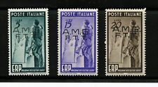 Italy-Trieste #42-44 (IT551) Comp O/P in black on Italy #515-7, M, H, FVF