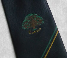QUERCUS TIE VINTAGE RETRO 1980s 1990s COMPANY CORPORATE ADVERTISING TREE MOTIF