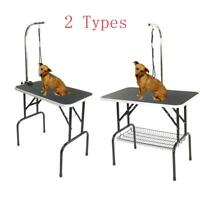 "Adjustable 32""/36""/48"" Foldable Pet Dog Cat Summer Grooming Table Tray 4 Types"