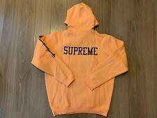 Supreme X Champion Hooded Sweatshirt Peach Hoodie sz L large