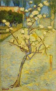PEAR TREE Vincent Van Gogh Impressionism Giclee CANVAS ART PRINT 24x36 in.