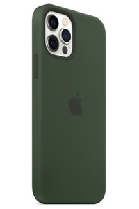 "Zyperngrün Apple Echt Original MagSafe Silikon Hülle für iPhone 12 / 12 Pro 6,1"""