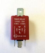 Timer Relay 12VDC 20 Amp Flip-Flop Positive 3 Seconds - 5 Seconds