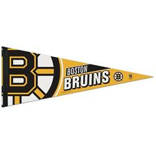 "BOSTON BRUINS ROLL UP PREMIUM FELT PENNANT 12""x30"" NEW FREE SHIPPING WINCRAFT"