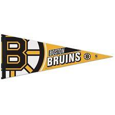 "BOSTON BRUINS ROLL UP PREMIUM FELT PENNANT 12""x30"" NEW FREE SHIPPING WINCRAFT"