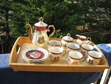 Royal China Japan RCJ16 Pattern, Tea Set: Cups, Saucers, Creamer, Sugar, Pot