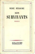 LES SURVIVANTS - RENE BEHAINE  - 1939