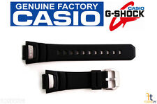 CASIO GS-1050 G-Shock Original 16mm Black Rubber Watch BAND Strap GS-1150 Silver