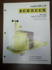 Shreck Truck Brochure~WR-LLP Walk-Ride Low Lift Pallet Truck