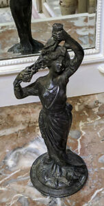Old French Nouveau Spelter Statue
