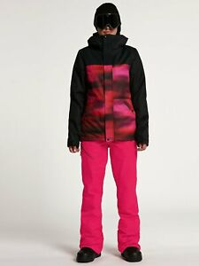 2021 NWT WOMENS VOLCOM BOLT INSULATED JACKET $175 S Bright Pink long fit 2 layer