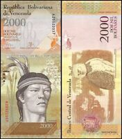 VENEZUELA 2000 (2,000) Bolivares, 2007-17, P-NEW, aUNC World Currency -